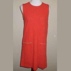 S NWOT Fossil Orange Retro Mod Shift Dress
